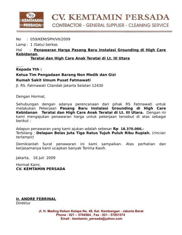 12 + Contoh Surat Penawaran Kerjasama | Barang | Jasa